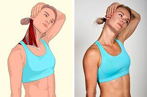 Протягане на мускулите на врата