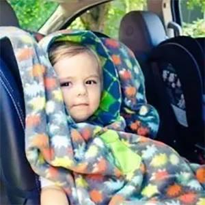 Одеяло за кола с качулка
