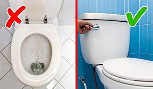 Позицията на тоалетната чиния