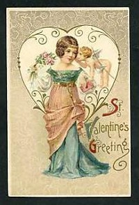 Валентинка от 1900-1930 година