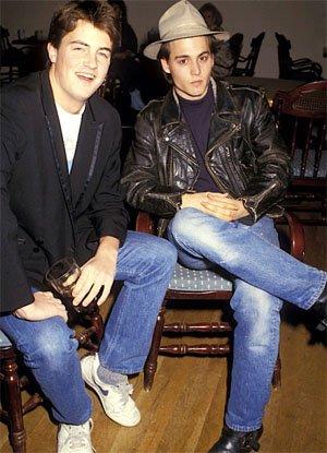 18 годишния Матю Пери и 24 годишния Джони Деп, 1987