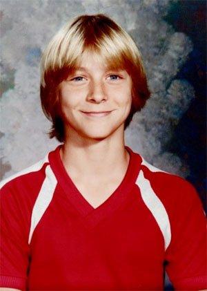 Ученическа снимка на 14 годишния Кърт Кубейн