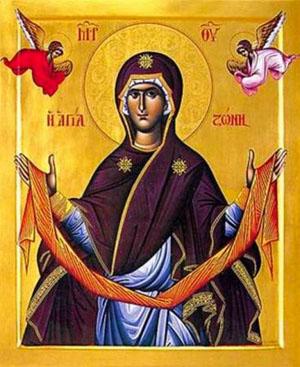 Полагане на честния пояс на пресвета Богородица